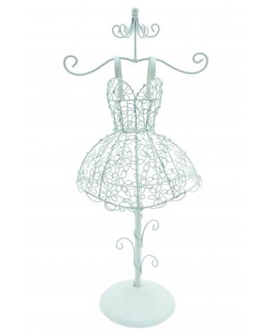 Expositor maniquí vestido de forja