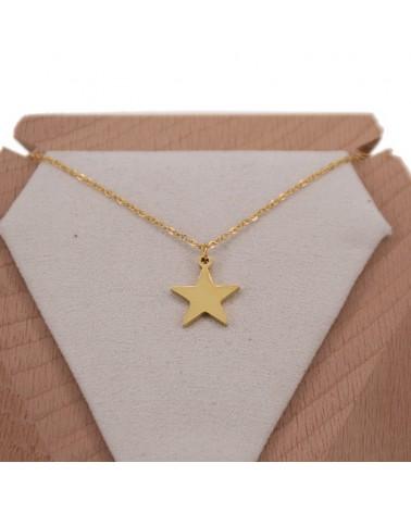 Colgante acero estrella