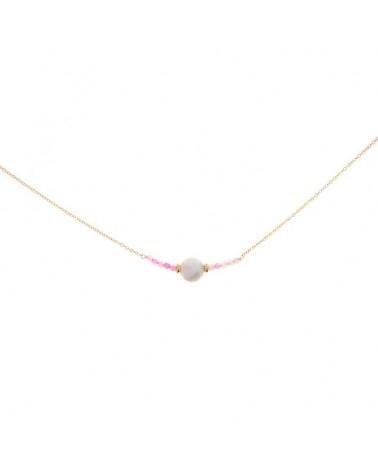 Collar acero perla natural