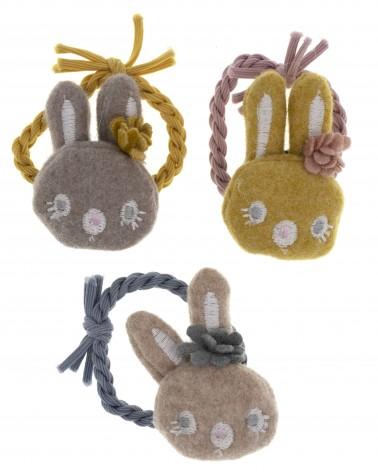 Conjunto de coleteros cabeza conejo